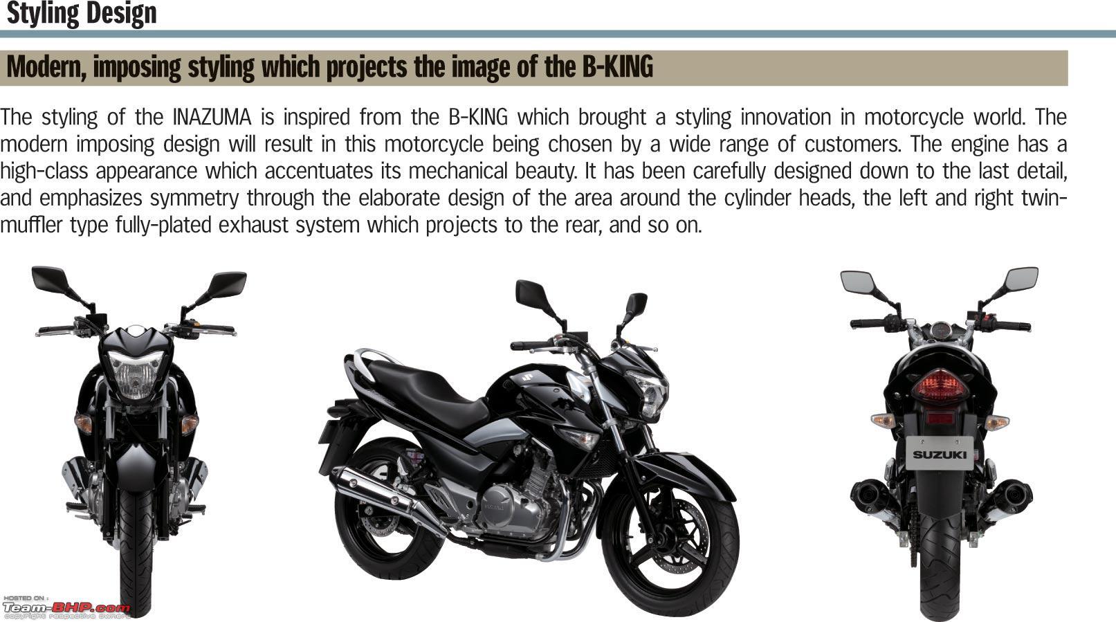 Suzuki inazuma 250cc launched update price slashed by 1 lakh style