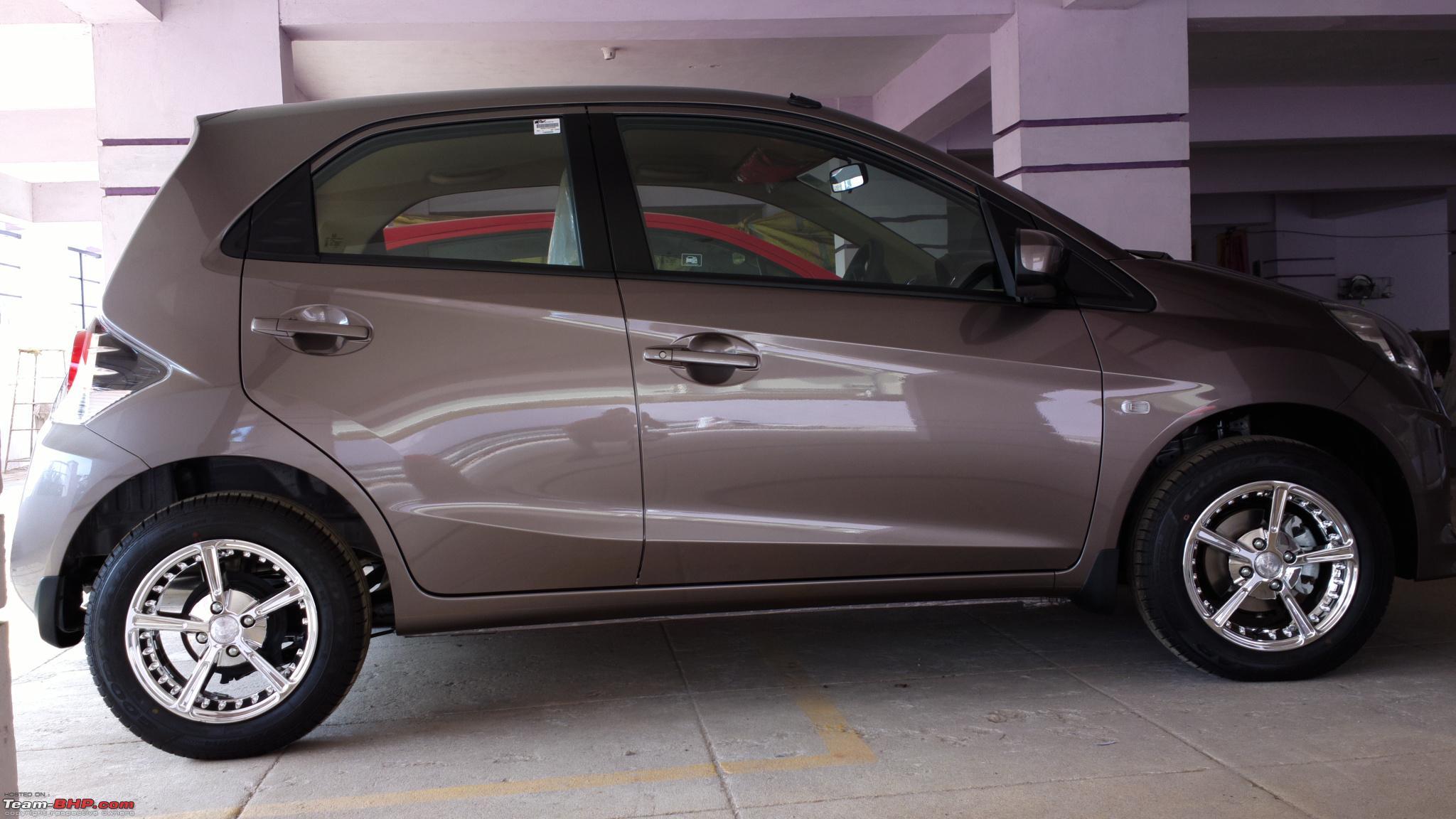 Honda brio test drive review side view brio jpg