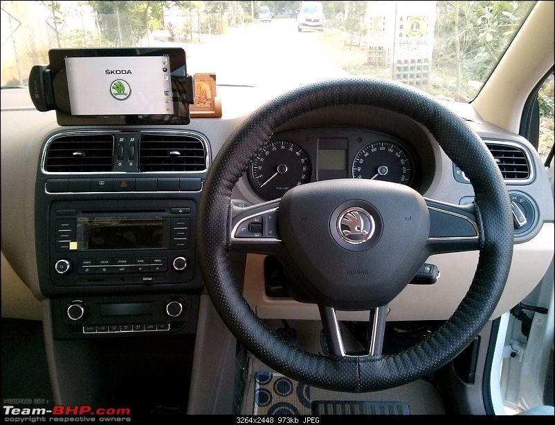 Skoda Rapid : Test Drive & Review-steering.jpg