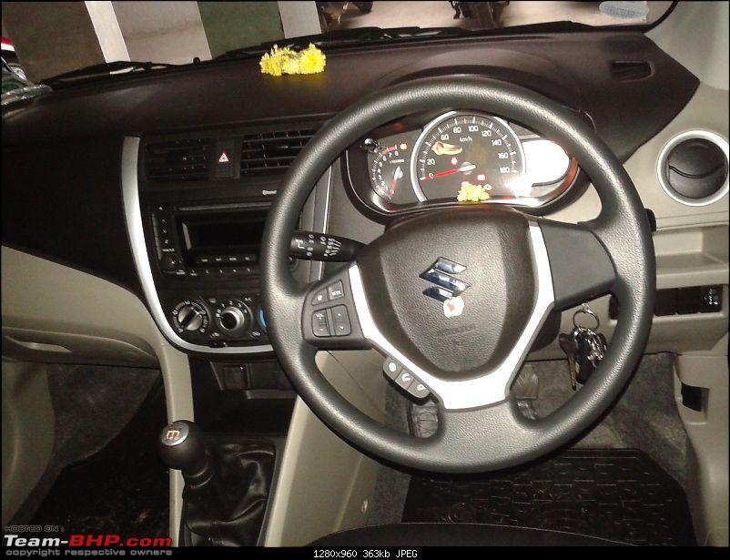 Maruti Celerio : Official Review-20140831_122936_steering1.jpg