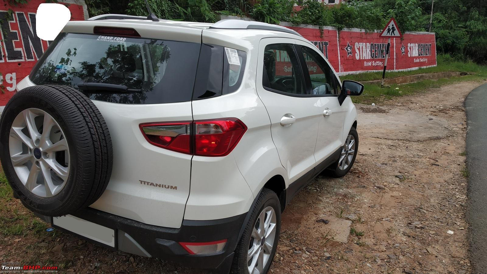 Ford Ecosport Facelift  L Petrol Official Review Rear Jpg
