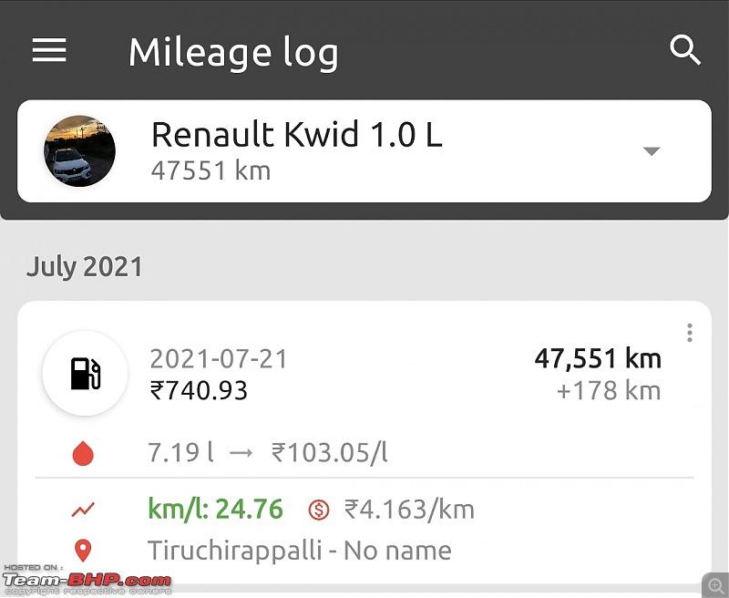 Renault Kwid 1.0L : Official Review-screenshot_20210721183207_fuelio.jpg