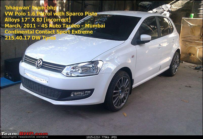 Volkswagen Polo : Test Drive & Review-bhagwan-team-bhp-mobile-pics-vw-polo-1.6-sparco-alloys-march-2011-2.jpg