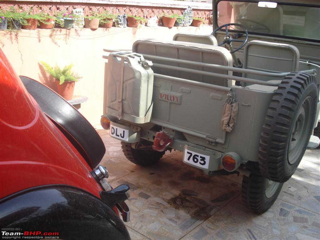 A 1952 short chassis & low bonnet Willys Jeep - Team-BHP