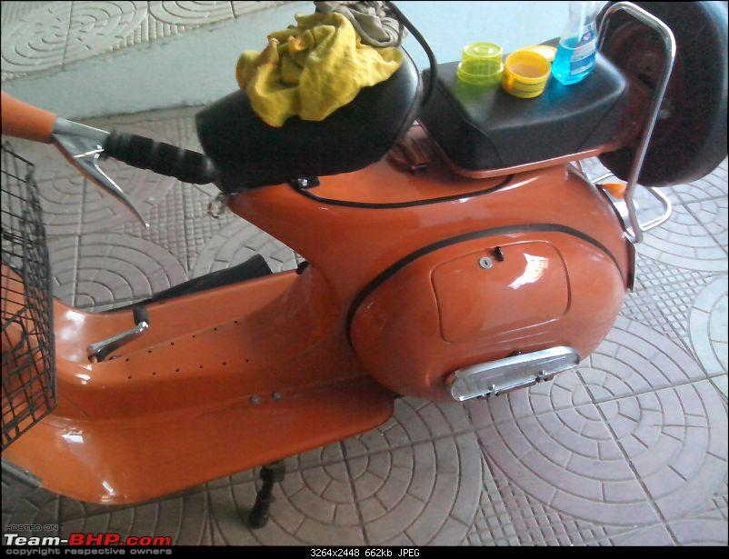 """Restoration and The Untold story of Our Prized Possession """"The 1974 Bajaj 150"""".-img_20140107_172151.jpg"""