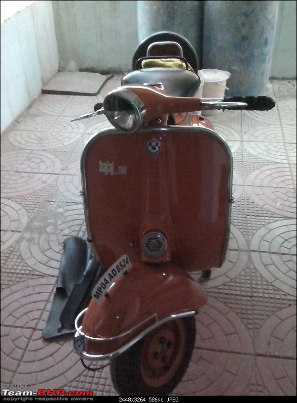 """Restoration and The Untold story of Our Prized Possession """"The 1974 Bajaj 150"""".-img_20140107_173751.jpg"""