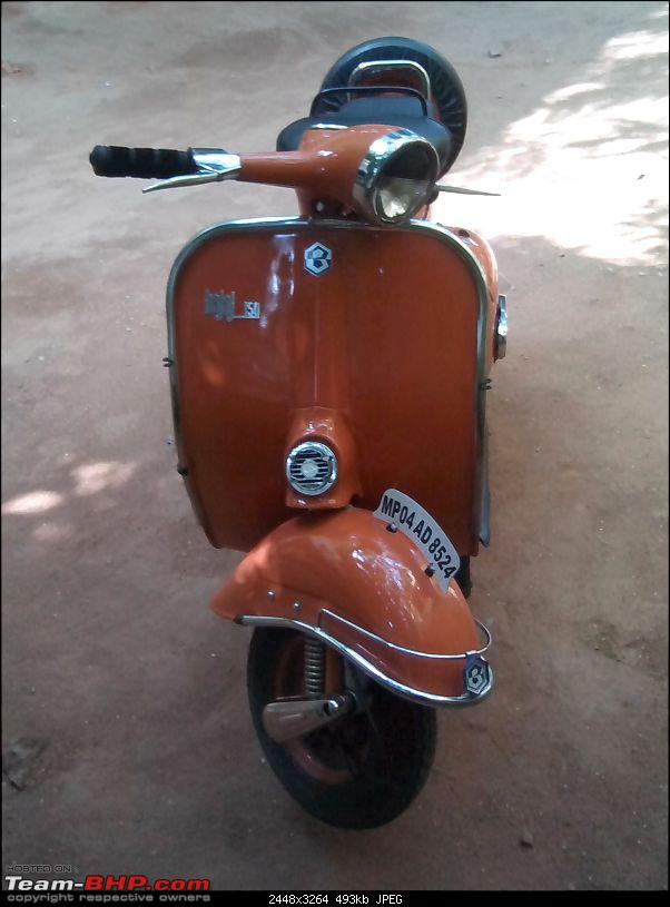 """Restoration and The Untold story of Our Prized Possession """"The 1974 Bajaj 150"""".-img_20140111_105327.jpg"""