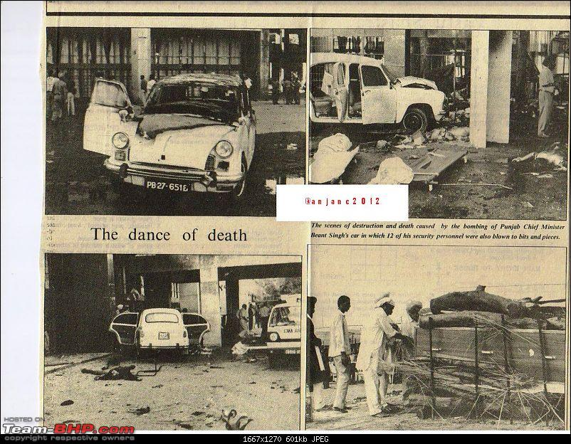 Landmaster And Ambassador Picture Gallery-picture-252.jpg <br /> The then CM of Punjab, Shri Beant Singh' s Ambassador bombed- he was killed on the spot on 31/8/1995 (The Hitavada, Nagpur)<br /> <br /> <a href=