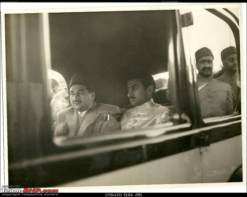 How rich were the Maharajas before Independence! Cars of the Maharajas-nawab-kairpur-45wr-arriving-rlwy-stn-wedding.jpg