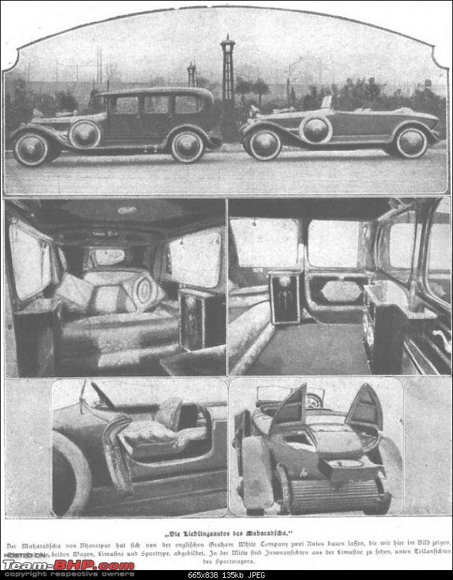 How rich were the Maharajas before Independence! Cars of the Maharajas-grahamwhitebharatpur19211.jpg