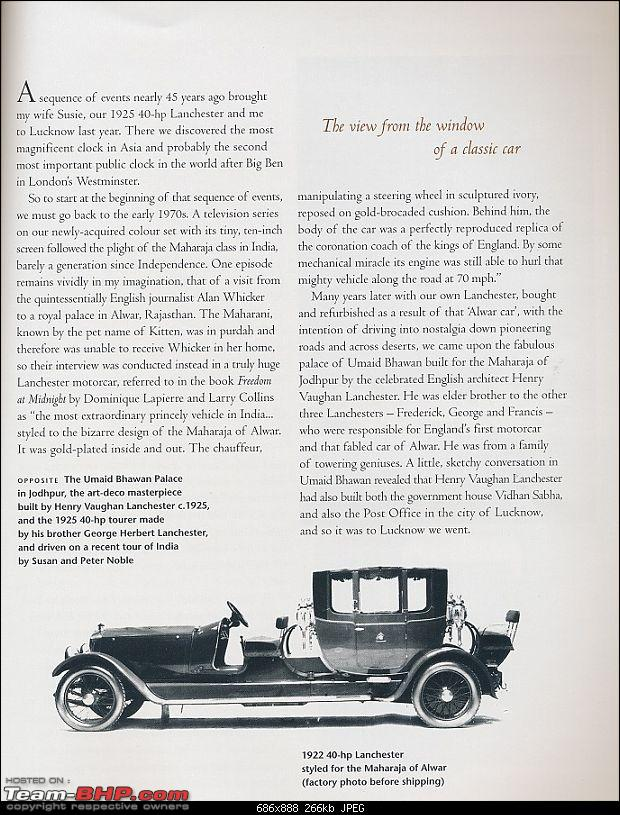 How rich were the Maharajas before Independence! Cars of the Maharajas-lanch2.jpg