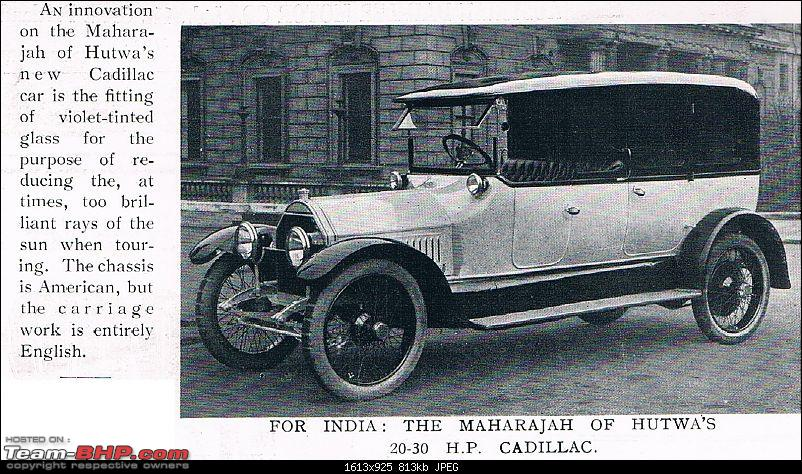 How rich were the Maharajas before Independence! Cars of the Maharajas-hutwa-cadillac-1914.jpg