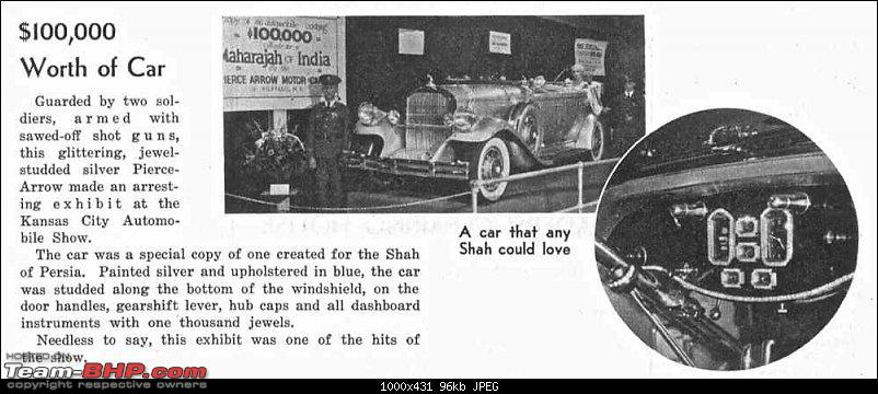 How rich were the Maharajas before Independence! Cars of the Maharajas-pierce.jpg