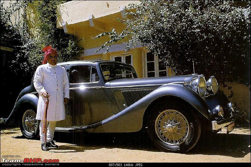 How rich were the Maharajas before Independence! Cars of the Maharajas-maharaja-kishengarh-his-jaguar-sumio-uchiyama-maharaja-book.jpg