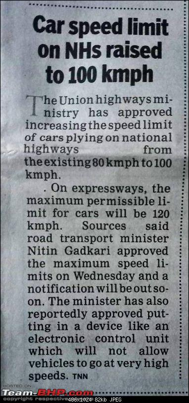 Govt all set to revise speed limits for all vehicles. EDIT: Done-1518062089978.jpg