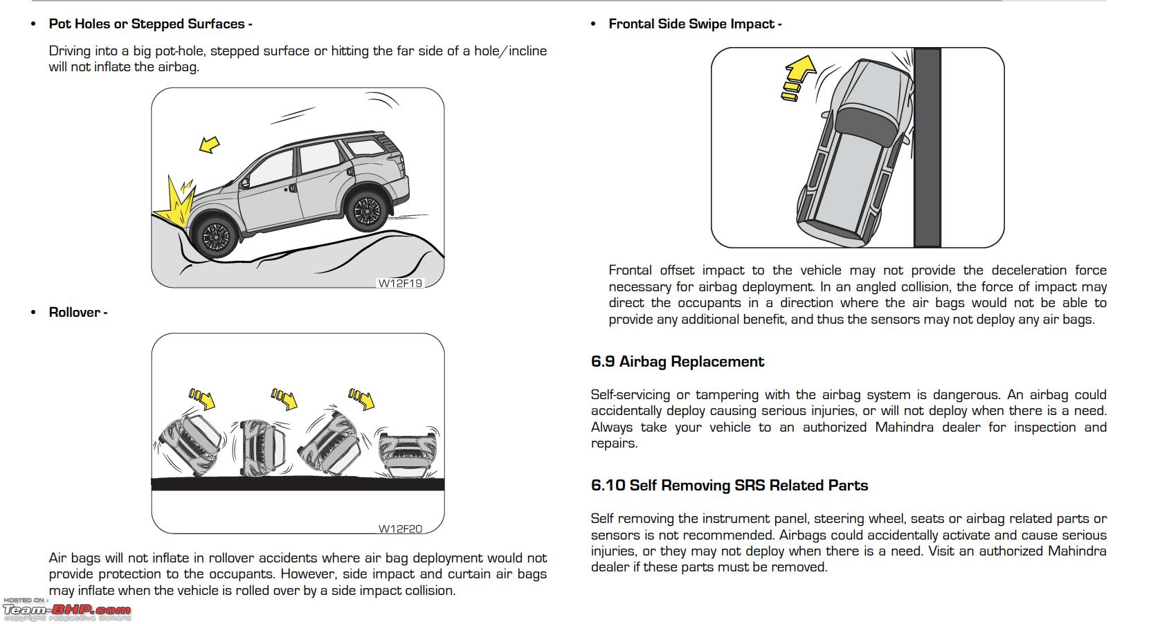 Examples of the types of accidents in which the driver'sdriver's and front passenger's SRS frontal airbag(s) will basically not deploy