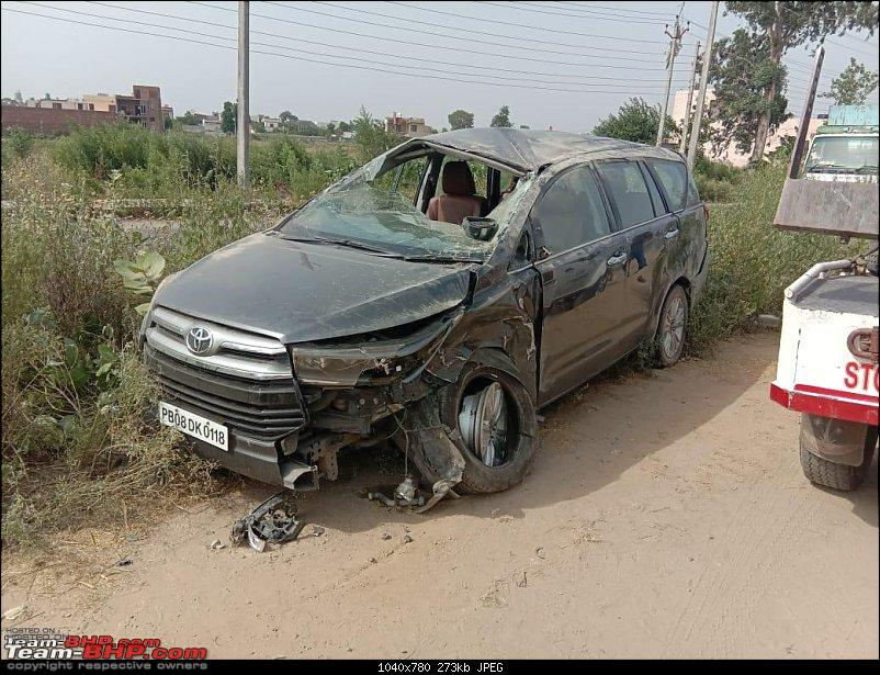 Toyota Innova Crysta ZX rolls over thrice! None of the 7 airbags deploy-img20190612wa0023.jpg