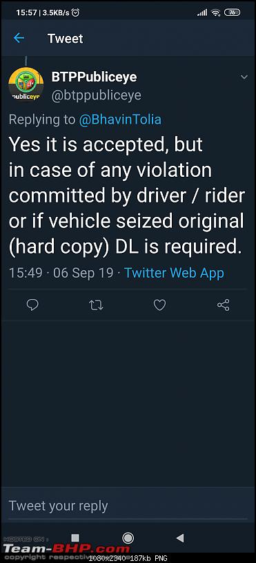 Traffic Police enforcing new Motor Vehicles Act from 15/08/2019 : How do you plan to adapt?-screenshot_20190906155700709_com.twitter.android.png