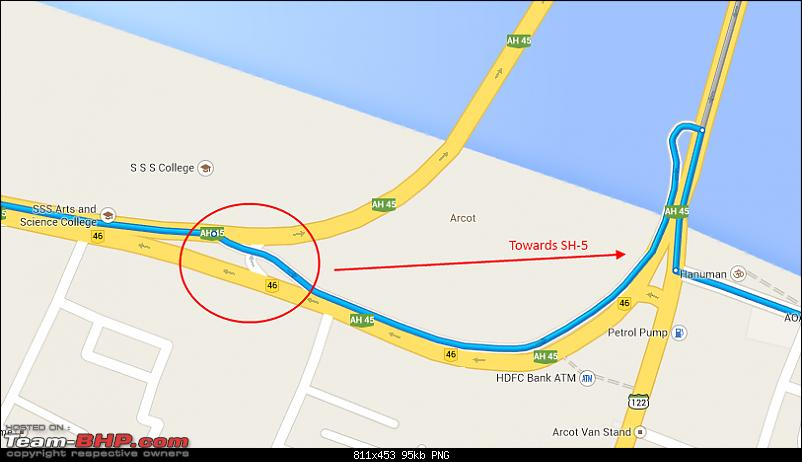 Bangalore - Pondicherry : Route Queries-arcotshortcut.png