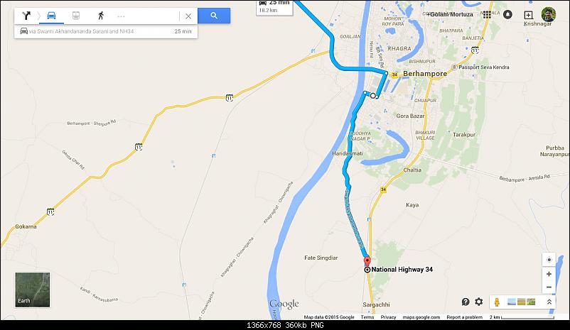 Kolkata-Siliguri through SH7, NH34 and Botolbari-Dhantola routes-sargachhibypass.png