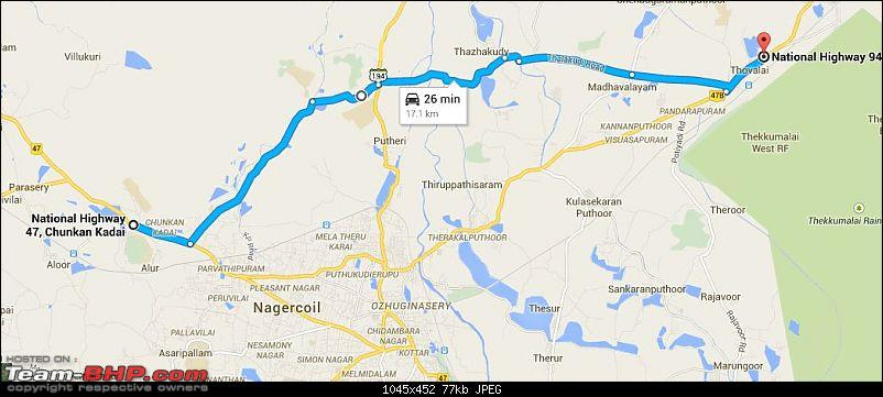 Trivandrum to Bangalore : Route Queries-nagercoil-deviation.jpg