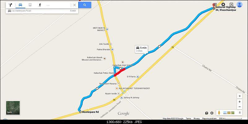 Kolkata - Siliguri route via Dumka, Bhagalpur. Avoiding NH34-kaliachak.jpg