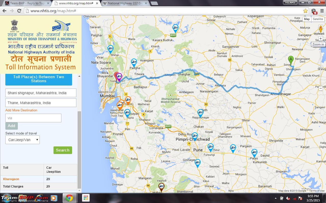 Mumbai To Shirdi Road Map Mumbai to Shirdi : Route Queries   Page 4   Team BHP