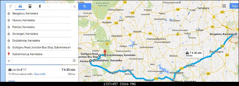 Bangalore - Kukke Subramanya : Route Queries-road.png
