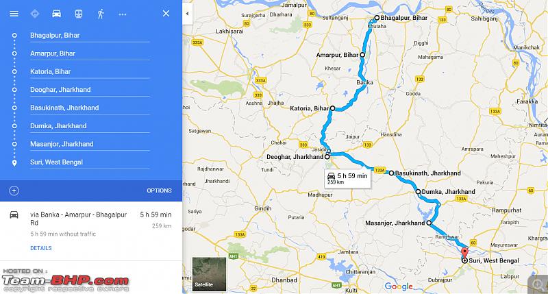 Kolkata - Siliguri route via Dumka, Bhagalpur. Avoiding NH34-route.png