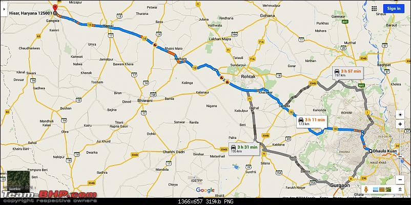 Traffic disruptions in Haryana due to the Reservation Protests!-delhi-hisar.png