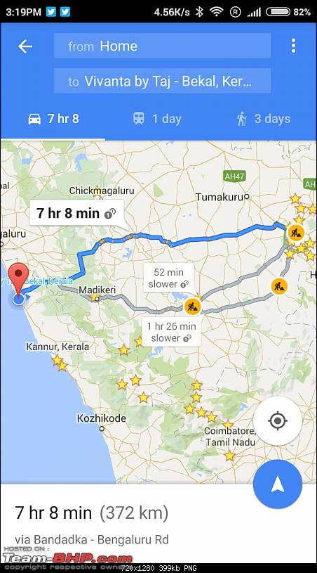 Bangalore - Bekal Fort (Kasargod) - Kabini : Route Queries-screenshot_20160320151916_com.google.android.apps.maps.png