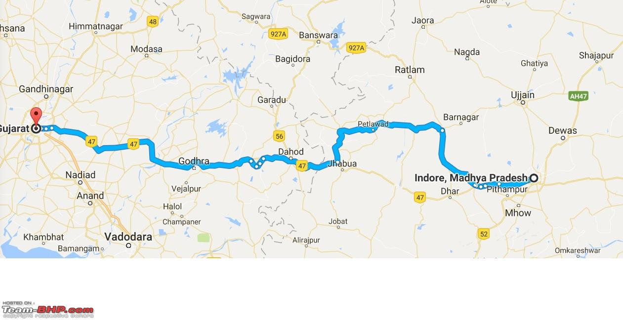 Ahmedabad To Indore Route Queries Page TeamBHP - Ujjain map