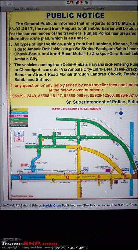 Traffic disruptions in Haryana due to the Reservation Protests!-notice.jpeg