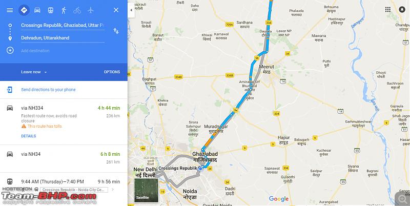 Delhi - Mussorie : Route Queries-untitled.png