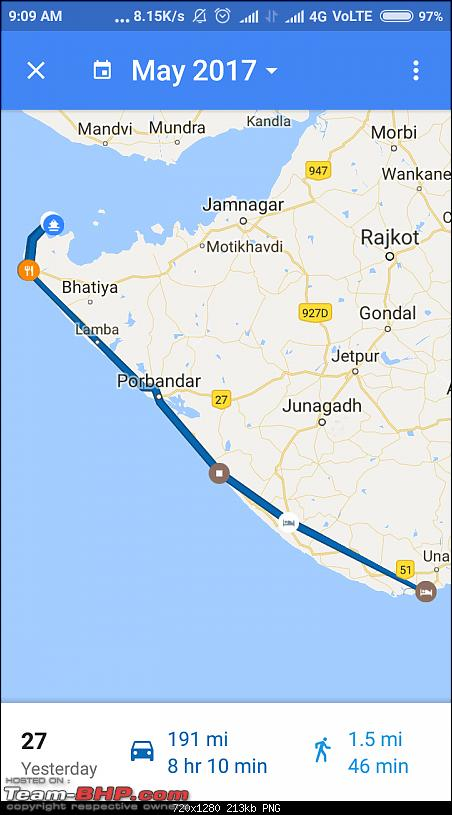 Dwarka and Somnath : Route Queries-screenshot_20170528090925672_com.google.android.apps.maps.png