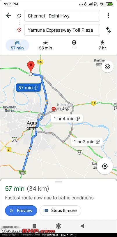 Delhi - Agra - Bangalore : Route Queries-screenshot_20190830210613879_com.google.android.apps.maps.png