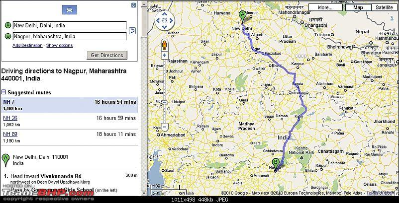 Delhi to Nagpur in Jeep Captain's Land Rover Defender - route planning-route.jpg