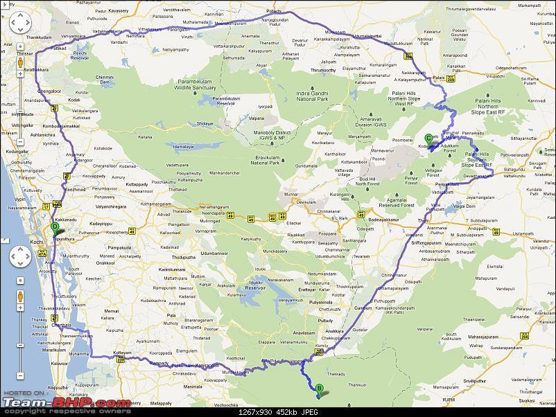 Kochi - Gavi - Kodaikanal - Kochi-routemap1.jpg