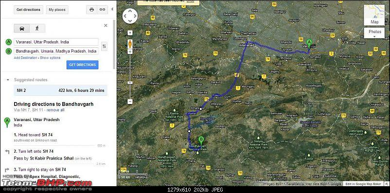 Reaching Bandhavgarh & Around-varanasibndvgarhrtmap.jpg