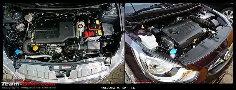 Pictorial Comparison: Maruti Ciaz vs City, Verna, Vento, Rapid, Linea, Fiesta & Manza-engine-bay.jpg