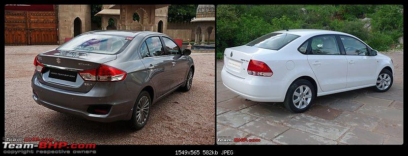 Pictorial Comparison: Maruti Ciaz vs City, Verna, Vento, Rapid, Linea, Fiesta & Manza-rear-3-quarters.jpg