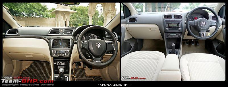Pictorial Comparison: Maruti Ciaz vs City, Verna, Vento, Rapid, Linea, Fiesta & Manza-dashboard.jpg