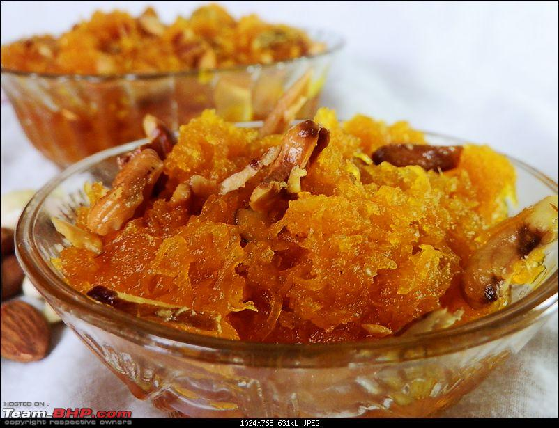 Recipes / Discussions on cooking from Team-BHP Master Chefs-halwa-served.jpg