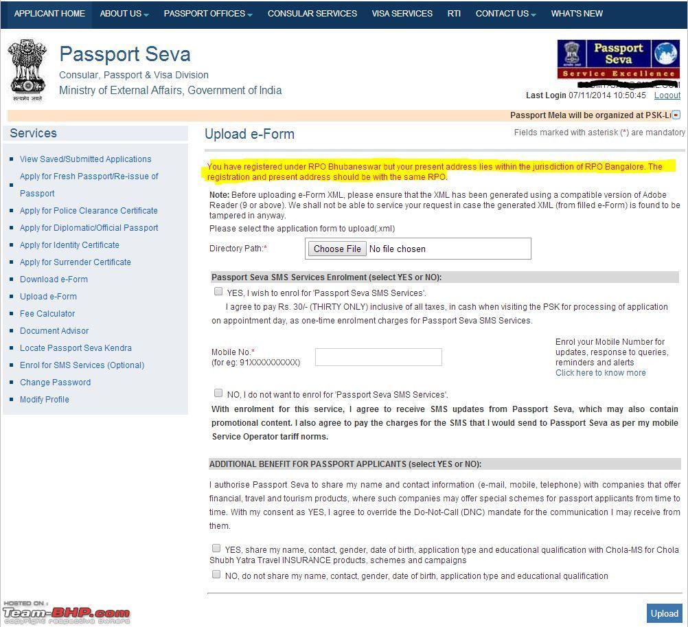 Passport renewal procedure page 112 team bhp passport renewal procedure passportg falaconquin