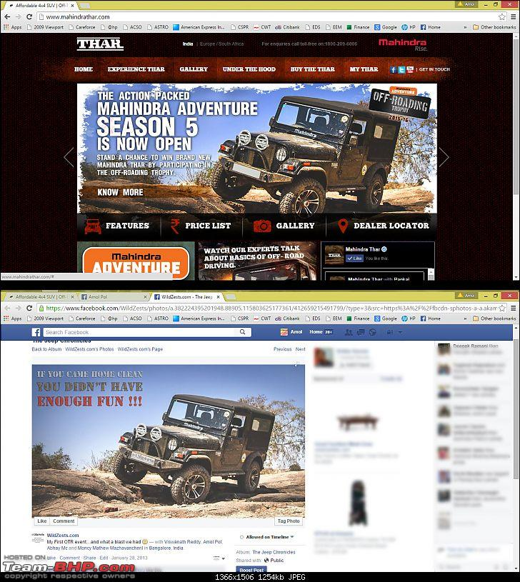Mahindra publishes my image on Thar website without permission. EDIT: Resolved-tharpic.jpg