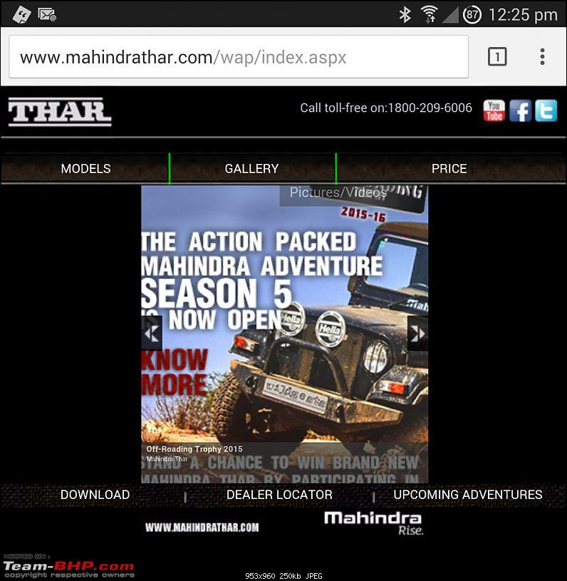 Mahindra publishes my image on Thar website without permission. EDIT: Resolved-mobileversion.jpg