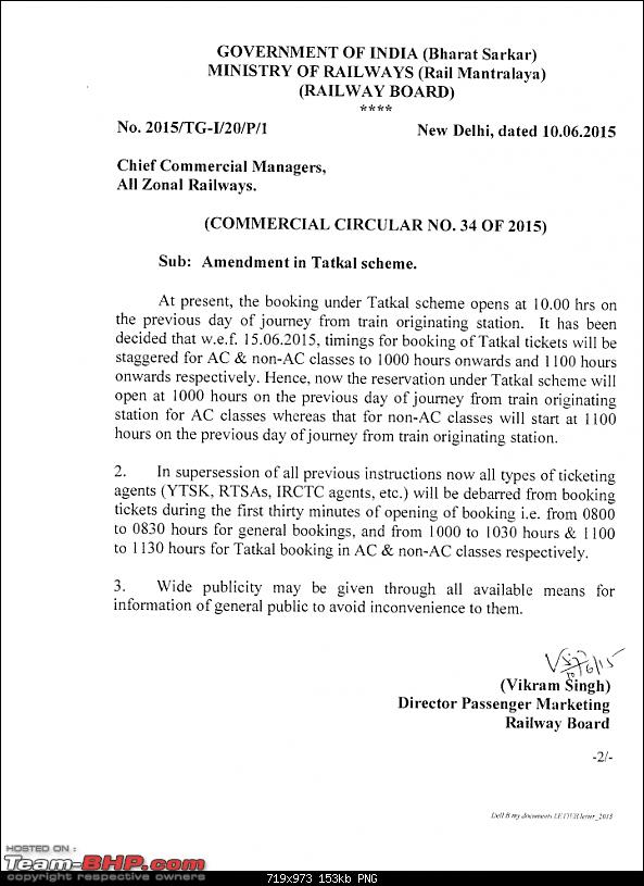 Indian Railways website (www.irctc.co.in) EDIT: Tatkal prices hiked - Page 52-notification.png