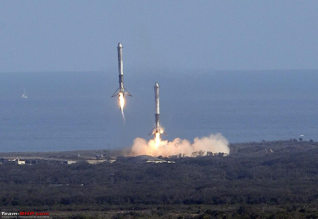 SpaceX launches Falcon Heavy Rocket with a car! - Team-BHP