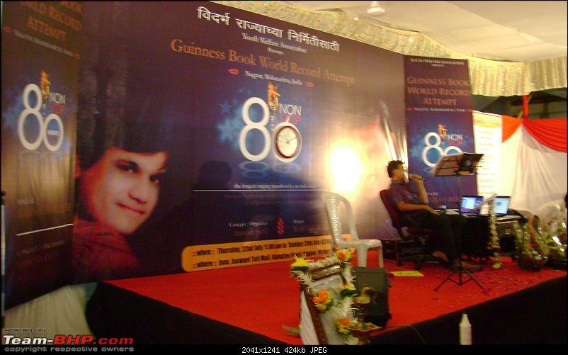 Rajesh Burbure, Nagpur, Singing For A Continuous 80 Hours to Set World Record!-05.jpg