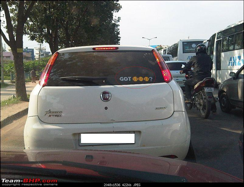 Pics of Weird, Wacky & Funny stickers / badges on cars / bikes-img003122010100815481.jpg